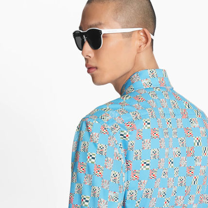 Louis Vuitton Shirts Other Plaid Patterns Street Style Long Sleeves Cotton Logo 3