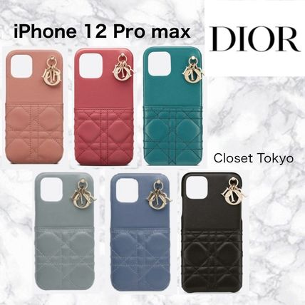 Christian Dior LADY DIOR Leather Logo Tech Accessories