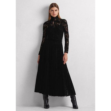 Tight Long Sleeves Long Party Style High-Neck Elegant Style