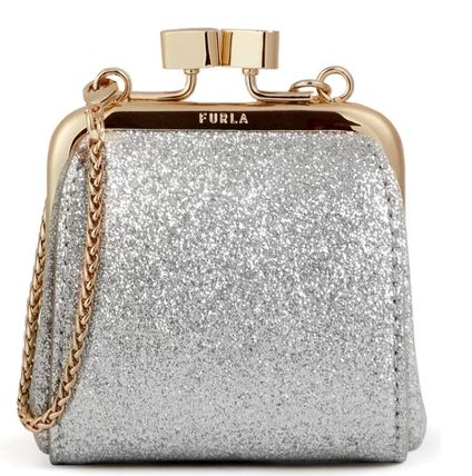 FURLA FURLA 1927 Logo Nylon Chain Plain Party Style Elegant Style Party Bags