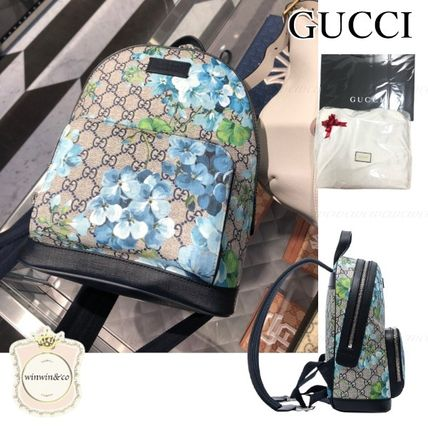 GUCCI Leather Elegant Style Logo Backpacks