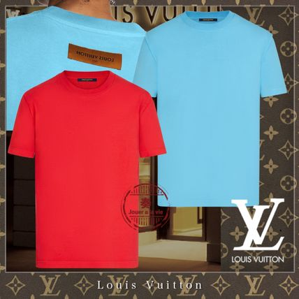 Louis Vuitton Crew Neck Unisex Street Style Plain Cotton Short Sleeves