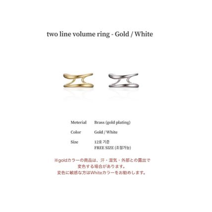 Casual Style Party Style Silver Brass Office Style Rings