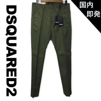 D SQUARED2 Tapered Pants Plain Cotton Tapered Pants