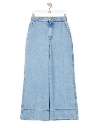 LOEWE Flare Jeans In Stone Washed Denim