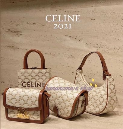 CELINE Triomphe Canvas Casual Style Unisex Canvas Blended Fabrics Street Style 2WAY