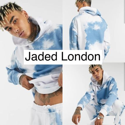 JADED LONDON Hoodies Pullovers Unisex Sweat Street Style Tie-dye Long Sleeves