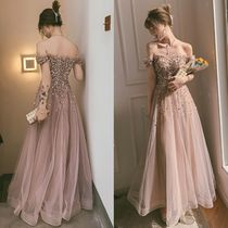 Flared Long With Jewels Bridal Wedding Dresses