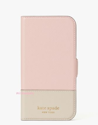 kate spade new york spencer Bi-color Leather Tech Accessories