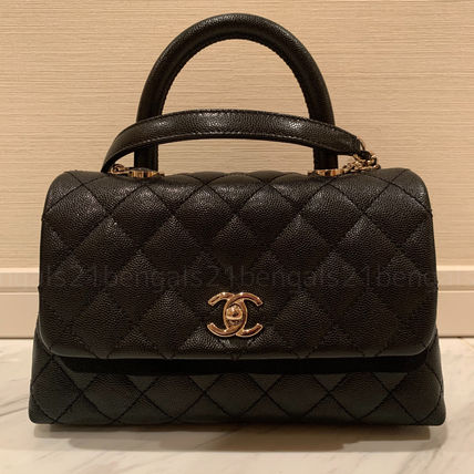CHANEL ICON Casual Style Calfskin 2WAY 3WAY Chain Leather Party Style