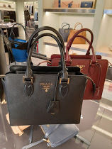 PRADA GALLERIA 2WAY Leather Office Style Totes