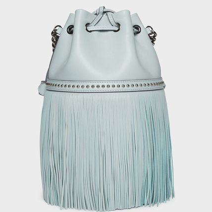 Casual Style Calfskin Tassel Studded 3WAY Plain Party Style
