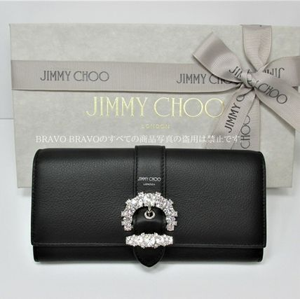 Jimmy Choo Leather Long Wallets