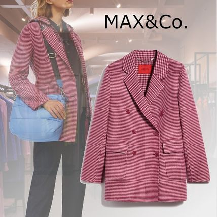Max&Co. Zigzag Casual Style Wool Nylon Medium Party Style