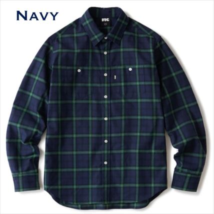 Button-down Gingham Tartan Other Plaid Patterns Long Sleeves