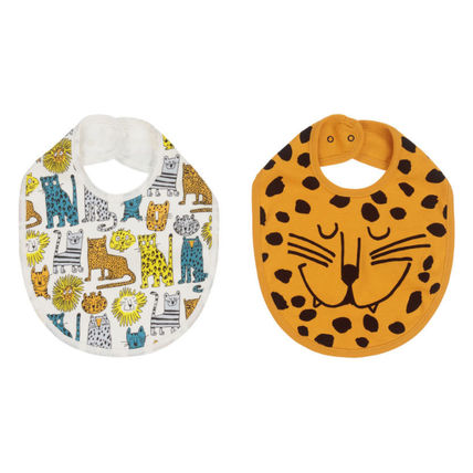 Stella McCartney Organic Cotton Baby Boy Bibs & Burp Cloths