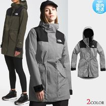 THE NORTH FACE Casual Style Street Style Plain Long Logo Outerwear