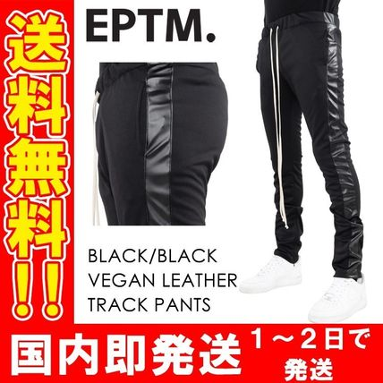 Unisex Street Style Plain Men Skinny Pants