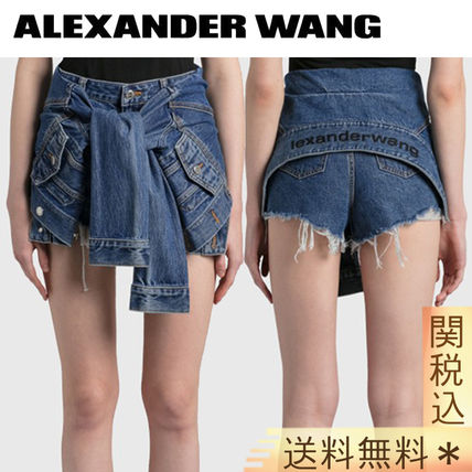 Alexander Wang Short Casual Style Street Style Plain Cotton Party Style