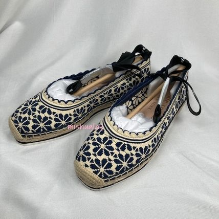 Flower Patterns Casual Style Flats