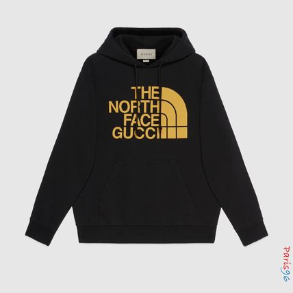 GUCCI Pullovers Unisex Collaboration Long Sleeves Cotton Logo
