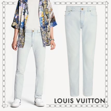 Louis Vuitton More Jeans Perforated Slim Jeans