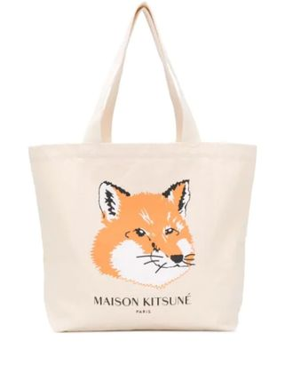 MAISON KITSUNE Unisex Canvas Street Style A4 Other Animal Patterns Logo