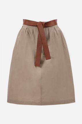 LOEWE Casual Style Leather Cotton Office Style Elegant Style