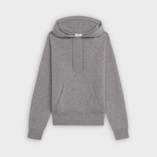 CELINE Sweater With Hood In Iconic Cashmere
