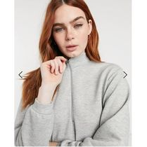 New Look Short Casual Style Long Sleeves Plain High-Neck Dresses