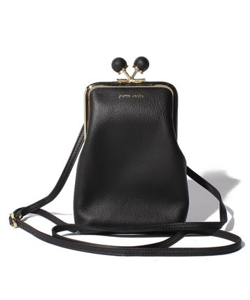pierre cardin Casual Style Street Style Plain Leather Logo Shoulder Bags