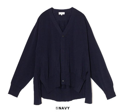 Casual Style Long Sleeves Plain Office Style Cardigans