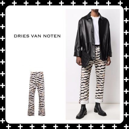 Dries Van Noten More Jeans Printed Pants Zebra Patterns Street Style Plain Cotton Logo
