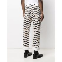 Dries Van Noten More Jeans Printed Pants Zebra Patterns Street Style Plain Cotton Logo 4