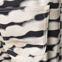 Dries Van Noten More Jeans Printed Pants Zebra Patterns Street Style Plain Cotton Logo 5