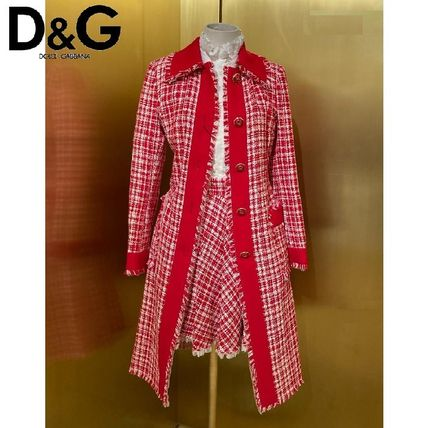 Dolce & Gabbana Other Plaid Patterns Tweed Party Style Elegant Style Coats