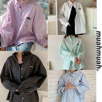 muahmuah Casual Style Street Style Long Sleeves Office Style
