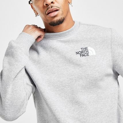 THE NORTH FACE Sweatshirts Crew Neck Pullovers Sweat Street Style Bi-color Long Sleeves 2