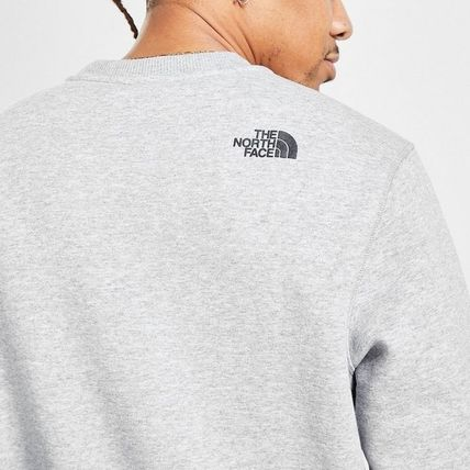 THE NORTH FACE Sweatshirts Crew Neck Pullovers Sweat Street Style Bi-color Long Sleeves 3