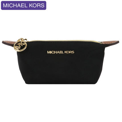 Michael Kors Nylon Plain Pouches & Cosmetic Bags