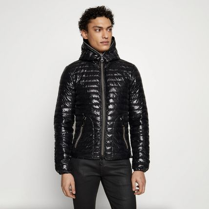 Short Nylon Plain Down Jackets