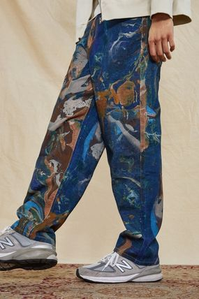 JADED LONDON Printed Pants Denim Street Style Cotton Jeans