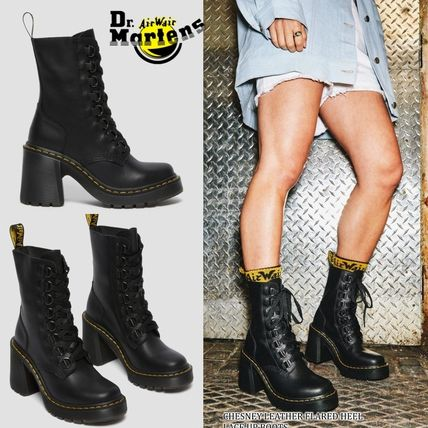 Dr Martens Lace-up Round Toe Lace-up Casual Style Unisex Blended Fabrics