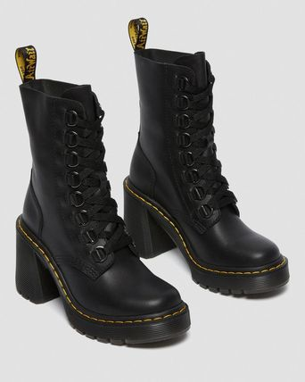 Dr Martens Lace-up Round Toe Lace-up Casual Style Unisex Blended Fabrics 3