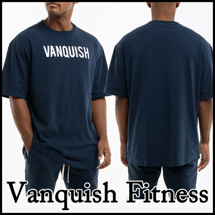 VANQUISH FITNESS More T-Shirts Short Sleeves Oversized Logo Workout T-Shirts