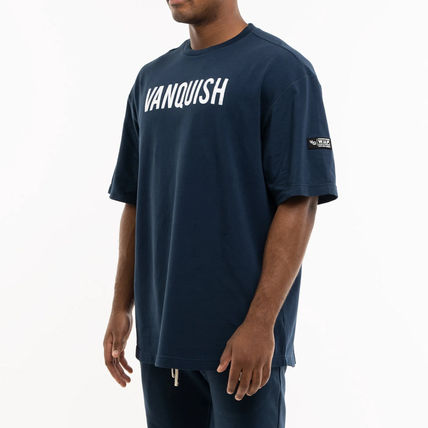 VANQUISH FITNESS More T-Shirts Short Sleeves Oversized Logo Workout T-Shirts 3