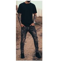 DECEPTION Skinny Street Style Plain Cotton Skinny Jeans 6