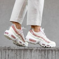 Nike AIR MAX 95 Rubber Sole Casual Style Unisex Suede Sport Sandals Logo