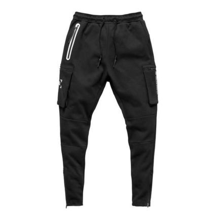 ASRV Tapered Pants Camouflage Street Style Plain Cotton