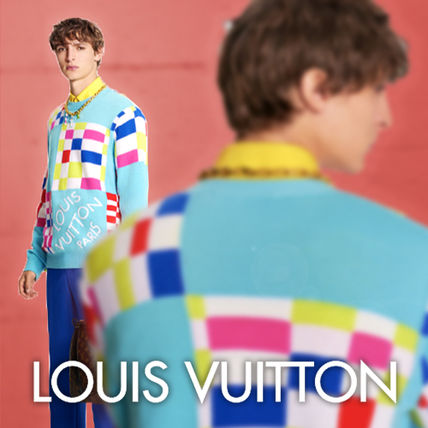 Louis Vuitton DAMIER Distorted Giant Damier Crewneck